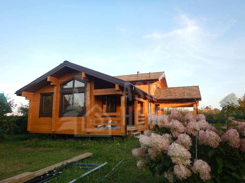 Дом с камином из клееного бруса на берегу Волги, Верхнеуслонский район. Татарстан,  #КБ192_Шеланга